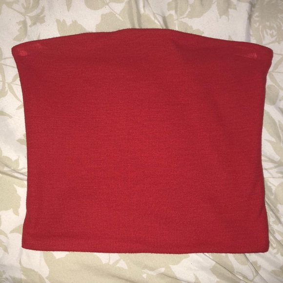 256ea02d065 Brandy Melville Tops - BRANDY MELVILLE Red cropped tube top